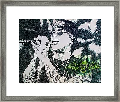 M Shadows Framed Print by Jeremy Moore