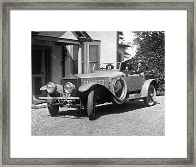 Mabel Normand In A Rolls Royce Framed Print by Underwood Archives
