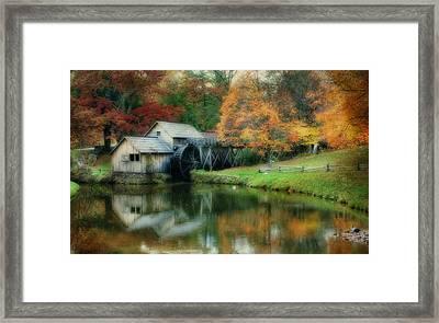 Mabry Mill Framed Print by Joan Bertucci
