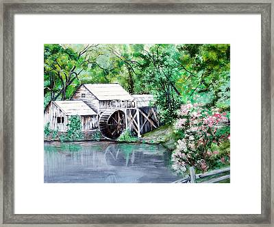 Mabry Mill Framed Print by Vickie Wright