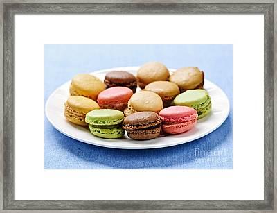 Macaroon Cookies Framed Print