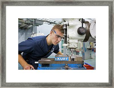 Machinist Job Training Framed Print by Jim West