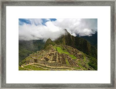 Machu Picchu, Cusco Region, Urubamba Framed Print by Douglas Peebles