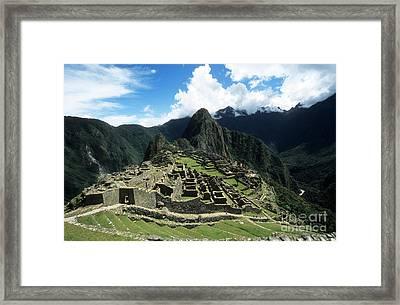 Machu Picchu Panorama Framed Print by James Brunker