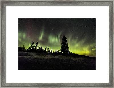 Mackenzie Point Aurora 2 Framed Print by Jakub Sisak