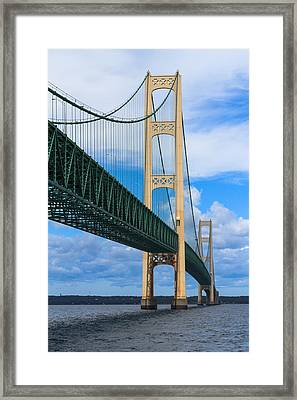Mackinac Bridge Framed Print by Cindy Lindow