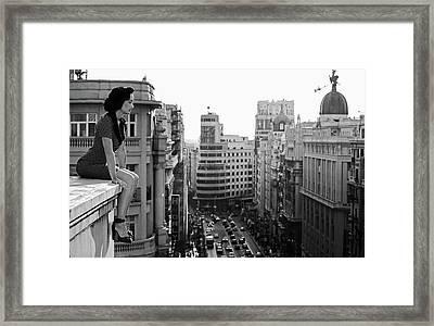 Mad Madrid Framed Print