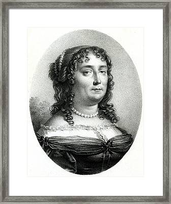 Madeleine De Scudery  French Writer Framed Print by Mary Evans Picture Library
