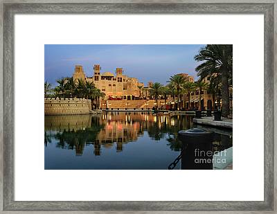 Madinat Jumeirah In Dubai Framed Print