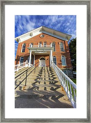 Madison County Courthouse In Virginia Framed Print