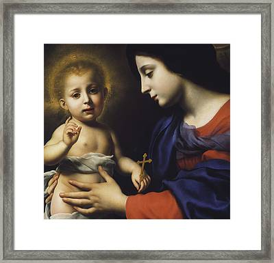 Madonna And Child Framed Print by Carlo Dolci
