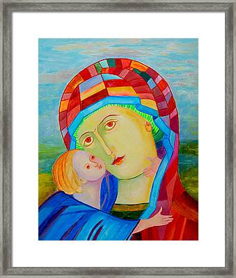Our Lady Of Perpetual Help. Our Lady Of Perpetual Succor. Mother Mary. Blessed Mother. Icon Eleusa Framed Print by Magdalena Walulik