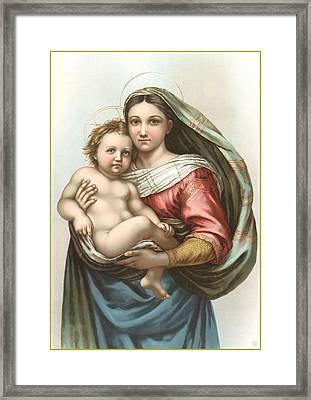 Madonna And Child Framed Print by Gary Grayson