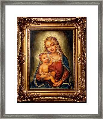 Madonna Beata Framed Print by Ananda Vdovic