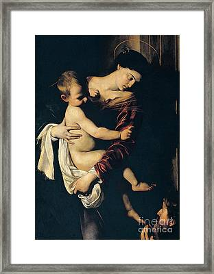 Madonna Di Loreto Framed Print by Caravaggio