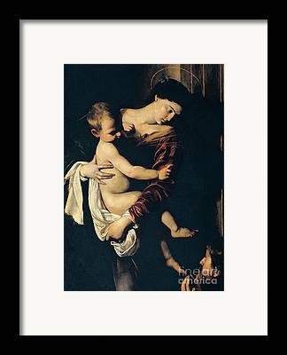 Mary And Jesus Framed Prints