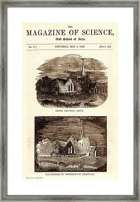 Magazine Of Science Framed Print by Universal History Archive/uig