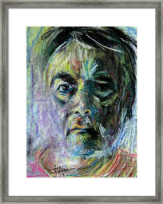 Framed Print featuring the painting Magi Batet - Artist by Jim Vance