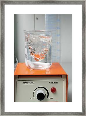 Magnetic Stirrer In A Laborator Framed Print