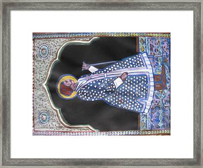 Framed Print featuring the painting Maharaja Jai Singh by Vikram Singh