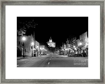 Main Steet Sylva 2003 Framed Print