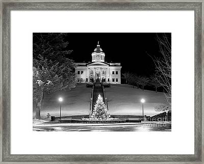 Main Street Christmas 2003 Framed Print