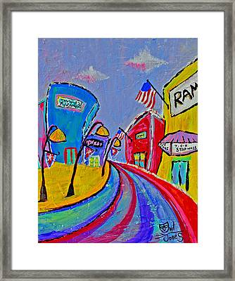 Main Street Usa Framed Print by Owl Jones
