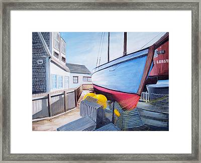 Maine Boatyard Framed Print