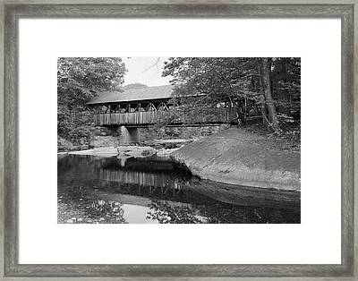 Maine Covered Bridge, 2003 Framed Print