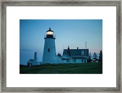 Maine, Pemaquid Point, Pemaquid Point Framed Print by Walter Bibikow