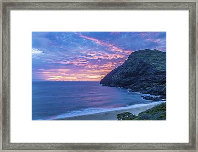 Makapuu Sunrise 2 Framed Print