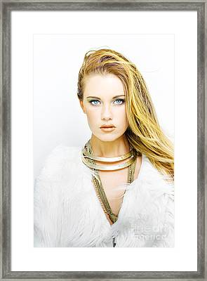 Makeup And Cosmetics Beauty Framed Print