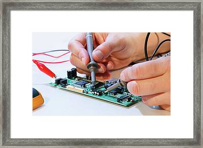Making An Electronic Micro Processor Framed Print