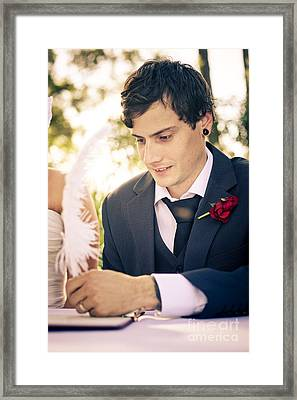 Making It Official Framed Print