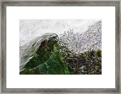 Malachite Water Framed Print by Robert Woodward