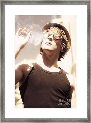 Male Fashion Grunge Framed Print by Jorgo Photography - Wall Art Gallery