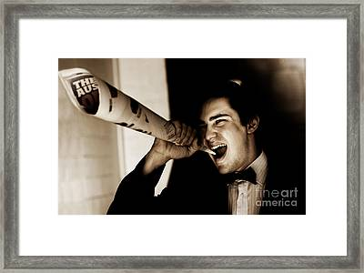 Male Reporter Making A News Press Release Framed Print by Jorgo Photography - Wall Art Gallery