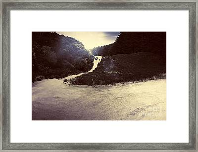Man Exploring Old Lighthouse Road Strahan Tasmania Framed Print by Jorgo Photography - Wall Art Gallery