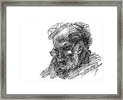 Man In The Corner Framed Print