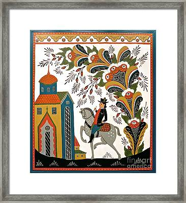 Man On Horse Framed Print by Leif Sodergren