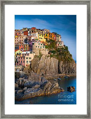 Manarola Afternoon Framed Print by Inge Johnsson