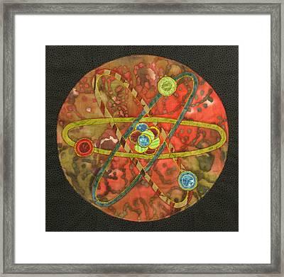Mandala No 1 Atom Framed Print by Lynda K Boardman