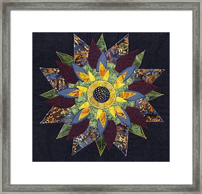 Mandala No 2 Sunflower Framed Print by Lynda K Boardman