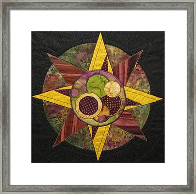 Mandala No 4 Compass Rose Framed Print by Lynda K Boardman