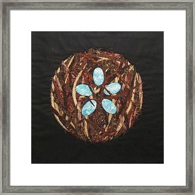 Mandala No 5 Bird's Nest Framed Print by Lynda K Boardman