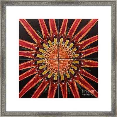 Framed Print featuring the painting Mandala by Paula L