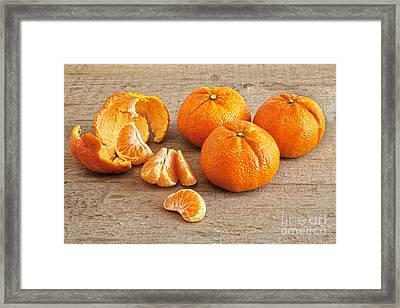 Mandarin Oranges Framed Print