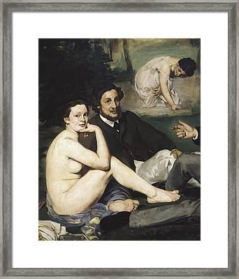 Manet, �douard 1832-1883. Le D�jeuner Framed Print