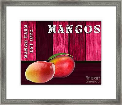 Mango Farm Sign Framed Print