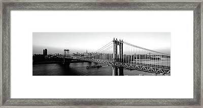 Manhattan Bridge, Nyc, New York City Framed Print by Panoramic Images